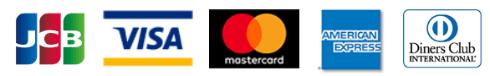 JCB VISA MasterCard American Express ダイナースクラブカード
